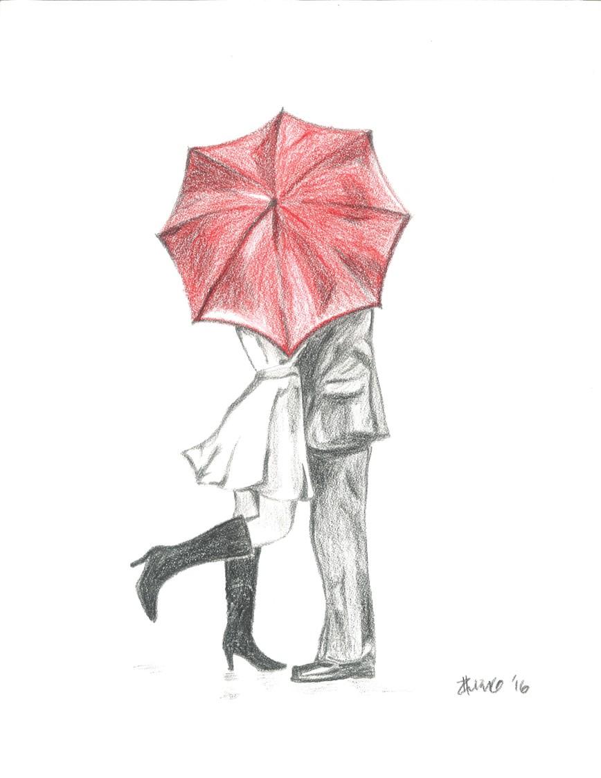 kiss_underbrella