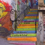Some of many stairs in Valparaíso