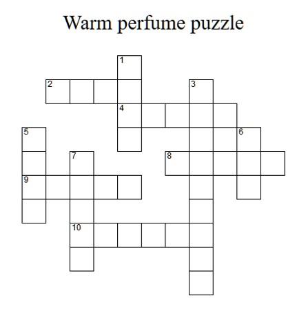 WarmPerfumeCrossWordPuzzle